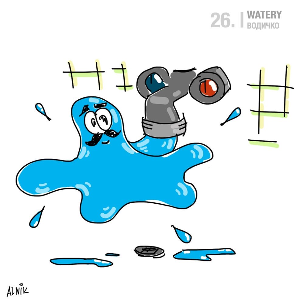 26. watery
