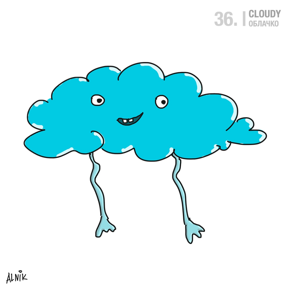 36. cloudy