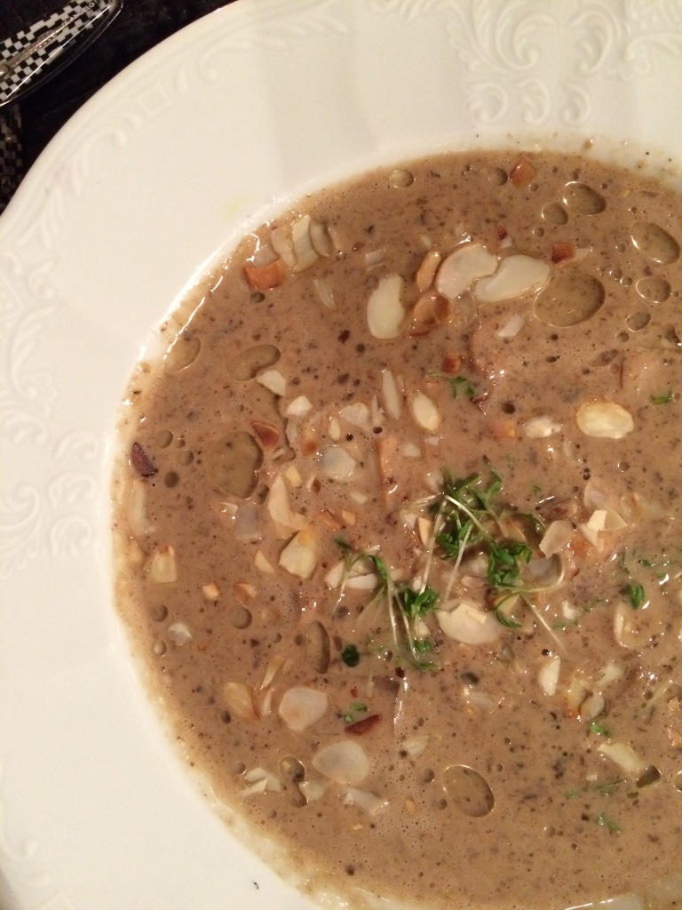 Mushroom soup in KEX hostel